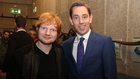 Ryan Tubridy with Ed Sheeran at The Late Late Toy Show