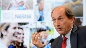 Nestle CEO Paul Bulcke at the 2014 results press conference in Vevey, Switzerland