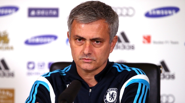 Chelsea boss Jose Mourinho speaking today before the club announced a further two fan suspensions, making five in all