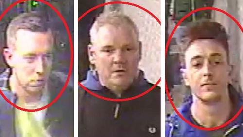 Scotland Yard released images of three men as part of an investigation into the incident