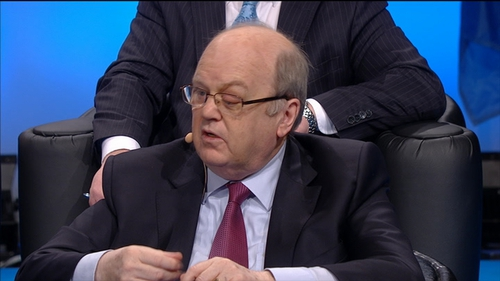 Earlier Michael Noonan said that forecasts now show unemployment falling below 10% this year