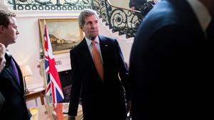 US Secretary of State John Kerry met his British counterpart Philip Hammond