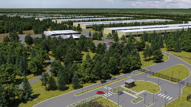 An artist's impression of Apple's Athenry centre