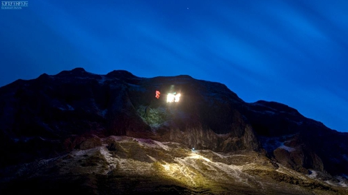 All of the climbers were safely off the mountain by 10.30pm (Pic: Ciarán Davis, Sligo/Leitrim Mountain Rescue)