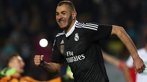 Benzema in action for Real Madrid