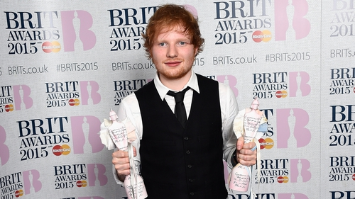 Sheeran won the Best British Solo Male award and British Album of the Year for X