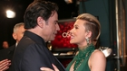 John Travolta and Scarlett Johansson during the Oscars