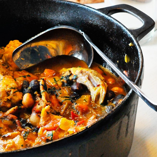 Nevens Recipes - Chicken and bacon stew with root vegetables