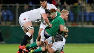 Ireland's Jeremy Loughman can find no way through here