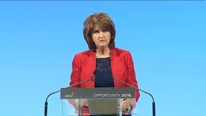 Joan Burton said the Labour Party has risen to the challenge of rescuing the country in a dark and difficult hour