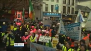 One News Web: Anti-water charge protesters to march on Labour conference