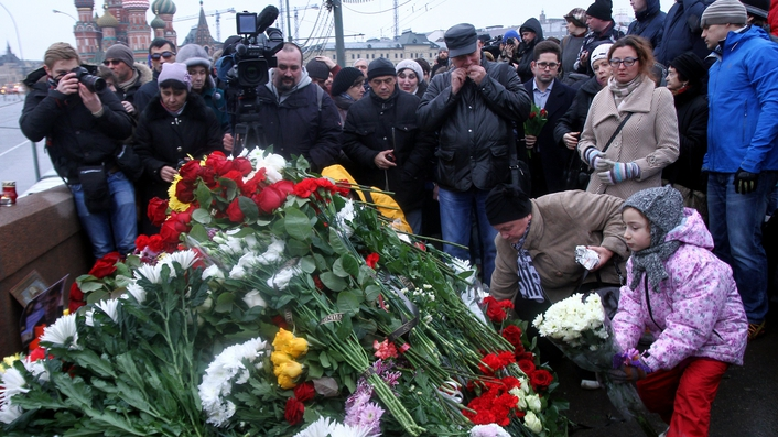 Russians take to the streets to remember Boris Nemtsov