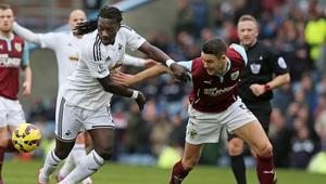 Swansea held off Burnley at Turf Moor