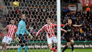 Peter Crouch got the only goal at he Brittania Stadium