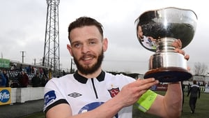 Dundalk captain Andy Boyle with the President's Cup