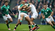 Simon Zebo carries the ball forward