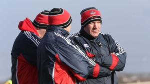 Cork manager Brian Cuthbert in Ballyshannon with his backroom team