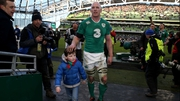 Paul O'Connell's son joined him in the immediate aftermath of Ireland's Six Nations win over England