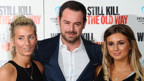 Joanne Mas and Danny Dyer with their daughter Dani