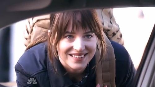 The sketch stars Fifty Shades of Grey's Dakota Johnson