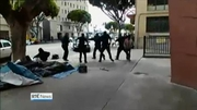 Six One News Web: Homeless man shot dead by LA police