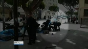 Nine News Web: Homeless man shot dead in LA by police