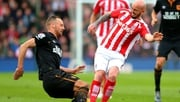 David Meyler and Stephen Ireland clash
