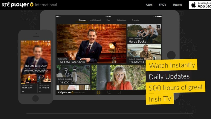 New online television service for international RTÉ audiences