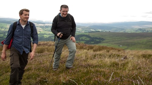 Travel journalist and broadcaster Pól O Conghaile, with his guide Declan McGrath on Tracks and Trails