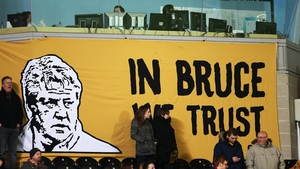 A Hull City fan's banner during the Barclays Premier League match at the KC Stadium