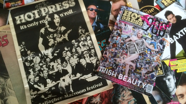 The exhibition of the signed Hot Press covers will take place in Temple Bar