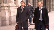 Brian O'Donnell (L) arriving at court this morning