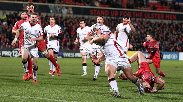 Luke Marshall in action for Ulster