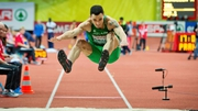 Irish champion McMullen was unable to produce a jump close to his personal best of 7.80m