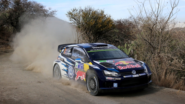 Sebastien Ogier is in front at the WRC Mexico