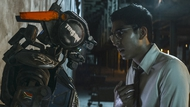 Chappie and his creator, Deon Wilson (Dev Patel)