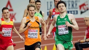 Mark English winning his 800m heat in Prague