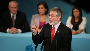 The theme of the Ard Fheis was Sinn Fein in government and it was a note continued in Gerry Adams' address