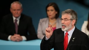 Gerry Adams said the party would introduce a wealth tax for those earning over €100,000