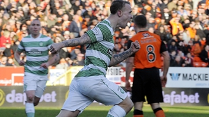 Celtic's Leigh Griffiths celebrates scoring