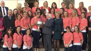 A reception for Irish sportswomen was held at Áras an Uachtaráin
