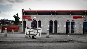 Down supporters helping before the game against Galway at Pairc Esler