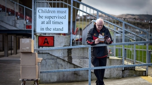 John 'Cookie' Cookson at Pairc Esler ahead of the Down vs Galway game