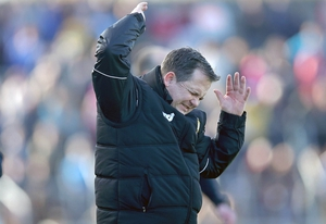 Clare hurling manager Davy Fitzgerald frustrated on Sunday