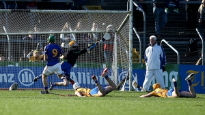 James Woodlock of Tipperary scores his side's second goal against Clare