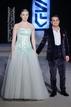 Model Aoife Ryan and fashion designer Umit Kutluk