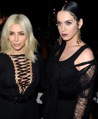 Look! Kim and Katy go gothic at Paris Fashion Week