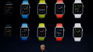 CEO Tim Cook unveils the  Apple Watch Sport in San Francisco