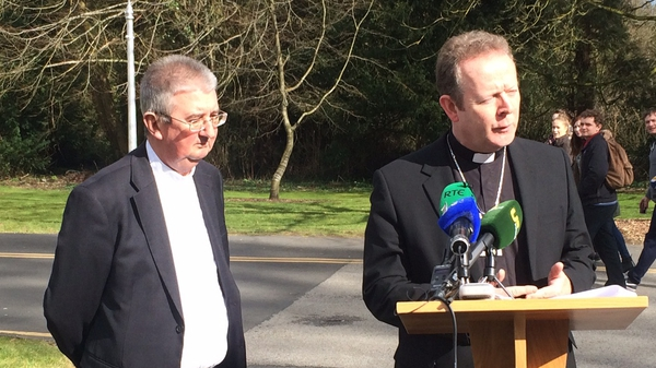 Dr Diarmuid Martin (L) and Dr Eamon Martin held a press conference in Maynooth this afternoon