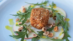 Neven Maguire's Crispy Goat's Cheese with Apple and Hazelnut Salad